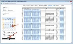 Plug-View_Videolist-Aufnahmenspeicherung